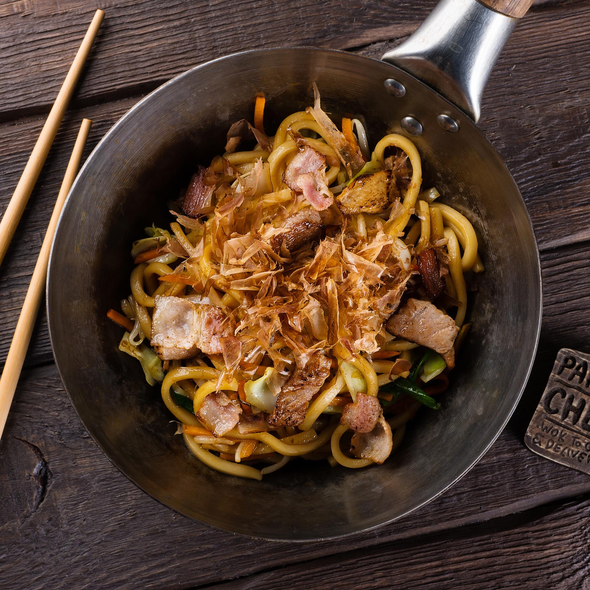 Лапша удон со свининой и овощами рецепт пошагово в