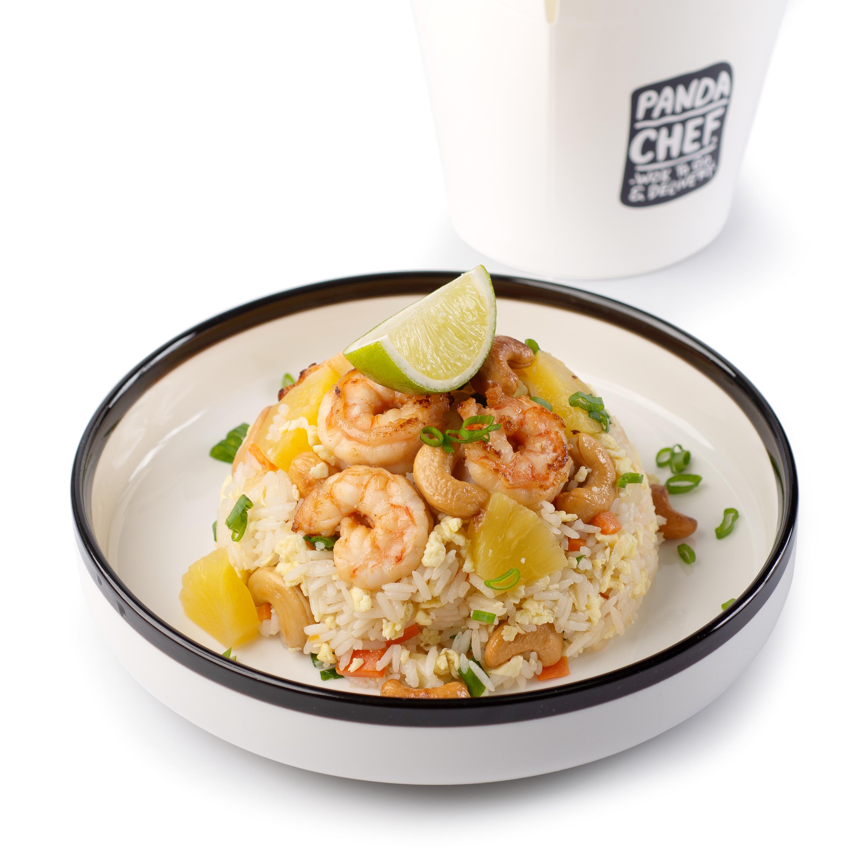 Тайский рис с креветками